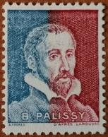 France Rare Vignette Expérimentale Palissy Pa28 N* Quasi N** Gomme D'origine, Bleu-rouge, Cote 20 €, Voir Les 2 Photos ! - Fictifs