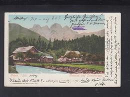 KuK AK Gosau 1906 An Burkhard Breitner Sohn Von Anton Scheffelbund Nachlass - Gmunden