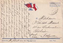 FRANCE   CARTE DE FRANCHISE MILITAIRE - Storia Postale