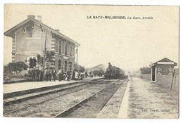 CPA 27 LA HAYE MALHERBE La Gare Arrivée - Andere Gemeenten