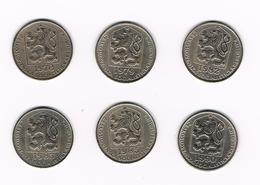 &  TSJECHOSLOWAKIJE  6 X 50 HALERU  1973/79/82/83/85/90 - Tchécoslovaquie