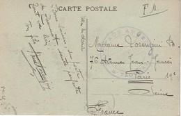 FRANCE 1925 CARTE DE FEZ EN FRANCHISE MILITAIRE - Marcophilie (Lettres)