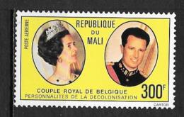 PA - 1977 - N° 296 **MNH - Couple Royal De Belgique - Mali (1959-...)
