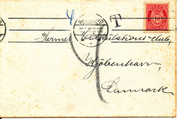 Norway Underpaid Cover With Postal Due T Sent To Denmark Haugesund?? 19-8-1918 - Norvège
