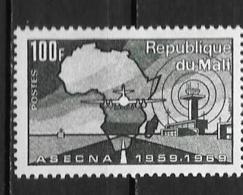 1970 - N° 132 **MNH - 10 Ans ASECNA - Mali (1959-...)