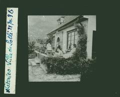Oude Glasplaat (8,5 X 10cm). Waterloo. Villa De Loli 1936 - Glasdias