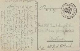 1927 CARTE DE FRANCHISE MILITAIRE DE MAINZ - Marcophilie (Lettres)
