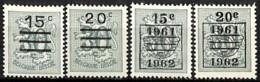 [830199]Belgique 1960 - N° 1172/73A, Préoblitérés, SC, SNC - België