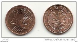 2 Cent, 2015, Prägestätte (J) Vz, Sehr Gut Erhaltene Umlaufmünze - Allemagne