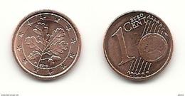 1 Cent, 2016, Prägestätte (F) Vz, Sehr Gut Erhaltene Umlaufmünze - Allemagne