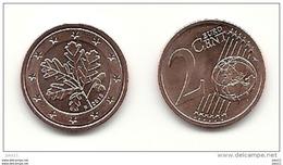 2 Cent, 2015, Prägestätte (F) Vz, Sehr Gut Erhaltene Umlaufmünze - Deutschland