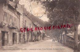 19- AUBAZINE SAINT HILAIRE -AVENUE DE LA GARE ROUTE NATIONALE BORDEAUX CLERMONT- AVEC 1 RARE PHOTO ORIGINALE - France
