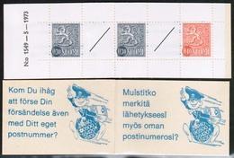 1974 Finland, Slot Machin Booklet Facit HA 8 M 1549 **. - Finland