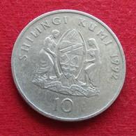 Tanzânia 10 Shilingi 1992 KM# 20a Tanzanie - Tanzanía