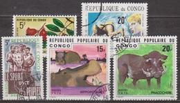 Sport Pour Tous - CONGO - Astronaute - Flore: Connarus, Animaux: Phacochère, Hippopotame - 1976 - Congo - Brazzaville