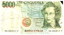 Billets > Italie >5000 Lire 1985 - [ 2] 1946-… : République
