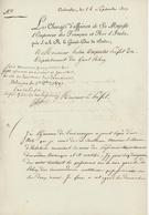 Carlsrouhe Karlsruhe 1807 Le Chargé D'affaires De Sa Majesté L'Empereur. Ordre Teutonique - Historical Documents