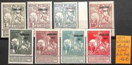 [830603]Belgique 1911 - N° 100/107, Charleroi, Chevaux - 1910-1911 Caritas