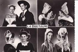 LA BRETAGNE - Costumes Des Régions De:1 Chateaulin- 2 Rosporden-Elliant- 3 Châteauneuf Du Faou- 4 Plougastel-Daoulas - Costumes