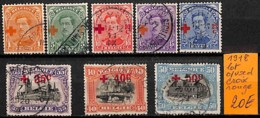 [830891]Belgique 1918 - Lot, Croix-Rouge, Croix-Rouge, Familles Royales, Rois - Croix-Rouge