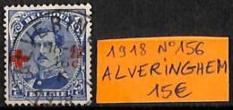 [830898]Belgique 1918 - N° 156, Alveringhem, Croix-Rouge, Familles Royales, Rois - Croix-Rouge