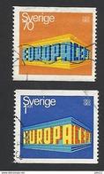 Schweden, 1969, Michel-Nr. 634-635, Gestempelt - Gebraucht