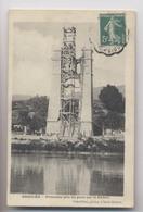 CONSTRUCTION DU PONT SUR LE RHÔNE - GROSLEE (01 - Ain) - 1904 - La Première Pile - Autres Communes
