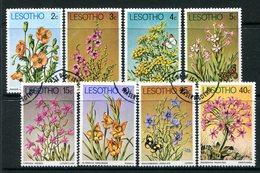 Lesotho 1978 Flowers Set Used (SG 347-354) - Lesotho (1966-...)
