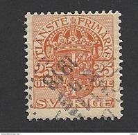 Schweden, Dienstpost, 1910, Michel-Nr. 25, Gestempelt - Servizio