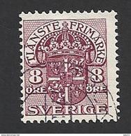 Schweden, Dienstpost, 1910, Michel-Nr. 21, Gestempelt - Servizio