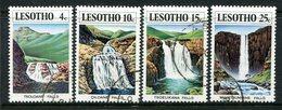 Lesotho 1978 Waterfalls Set Used (SG 357-360) - Lesotho (1966-...)