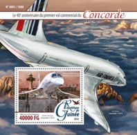 Guinea   2016    First Commercial Flight Of Concorde, Airports  , Airplanes - Guinée (1958-...)