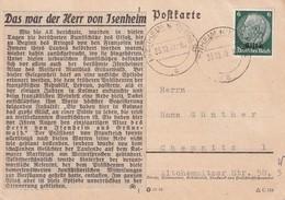 ALSACE-LORRAINE 1940 CARTE DE ISENHEIM - Marcophilie (Lettres)