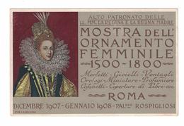 CARTOLINA CARTE POSTALE  MOSTRA DELL'ORNAMENTO FEMMINILE - Pubblicitari