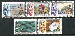 Lesotho 1980 Centenary Of Gun War Set Used (SG 387-391) - Lesotho (1966-...)