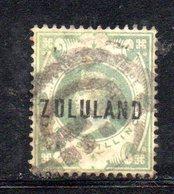 XP4615 - ZULULAND 1888 , Yvert N. 10  Usato (2380A) . - Sud Africa (...-1961)