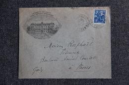 Timbre Sur Lettre Publicitaire - SAINT AIGNAN, Ecole Primaire Supérieure. - 1900 – 1949