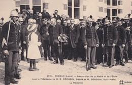 ASCOUX       INAUGURATION DE LA MAIRIE ET DE L ECOLE ......  LA RECEPTION   . LES POMPIERS - France