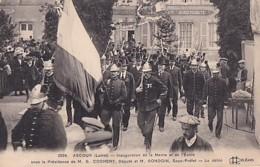 ASCOUX       INAUGURATION DE LA MAIRIE ET DE L ECOLE ......   LE DEFILE   . LES POMPIERS - France