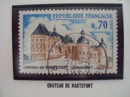 """60-69- Timbre Oblitéré N°  1596    """"chateau De Hautefort, Dordogne        """"    0.25 - Used Stamps"""