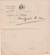 RARE Lettre + Réponse 1867 / Enquête Inculpation / Procureur Impérial + Mairie Burnhaupt Le Bas 68 / Marque OR - France