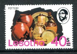 Lesotho 1980-81 New Currency - Typo Overprint - Wmk. - 40s On 40c Pottery MNH (SG 406A) - Lesotho (1966-...)