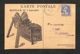 08 - AMAGNE - Carte PUB Machines Agricoles - RONAX N° 1 Ouvert -  F. RIGAUX & G. FRANCOTTE - 1930 - France