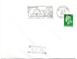 DROME - Dépt N° 26 = SAILLANS 1969 = Flamme Codée = SECAP Illustrée  'clairette / VIN + Truites / POISSON' - Marcophilie (Lettres)