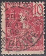 Indochine Province Du Cambodge - Battambang Sur N° 28 (YT) N° 28 (AM). Oblitération De 1909. - Oblitérés