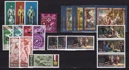 MALTA 1977 6 Different MNH Sets From 1976 Mi. 542 / 553 - 556 / 561 - Malta