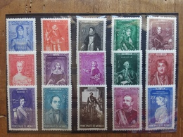 MONACO 1942 - Principi Di Monaco Nn. 234/48 Nuovi ** + Spese Postali - Unused Stamps