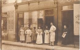 Dépt 21 - BEAUNE (32, Rue Maufoux) - CARTE-PHOTO Épicerie Fine Lazare GARNIER Et Charcuterie CHEVALLIER - (devanture) - Beaune