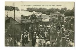"""Le Creusot - Saint Laurent - La Fête, Place Schneider (animation, Salon Du Phénomène Vivant """"Jean Libbera) Circ 1904 - Le Creusot"""