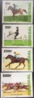 Sénégal 2009/2011 Horse Riding Courses Hippiques Pferde Chevaux Rennen Race 4 Val. RARE MNH - Senegal (1960-...)